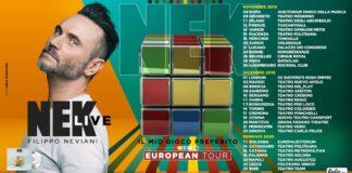 "NEK TOUR EUROPEO ""IL MIO GIOCO PREFERITO"""