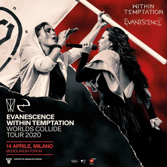 Evanescence e Within Temptation: il Worlds Collide Tour