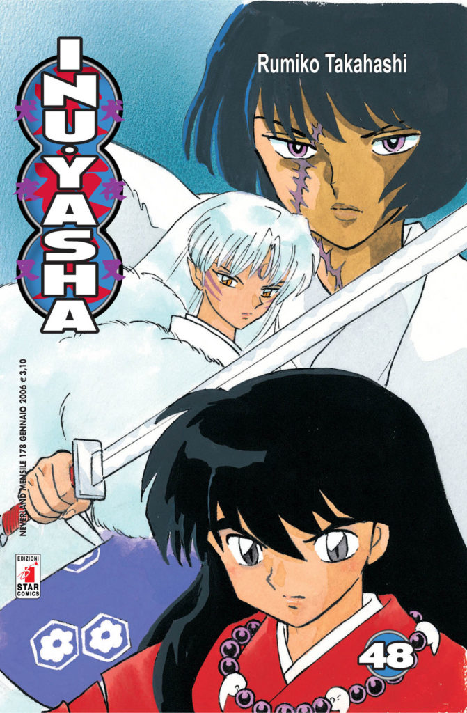 La copertina del manga di Inuyasha, Oriente a ruota libera