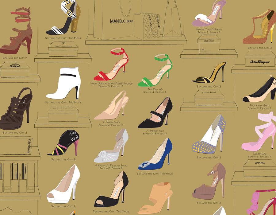 le scarpe di carrie bradshaw
