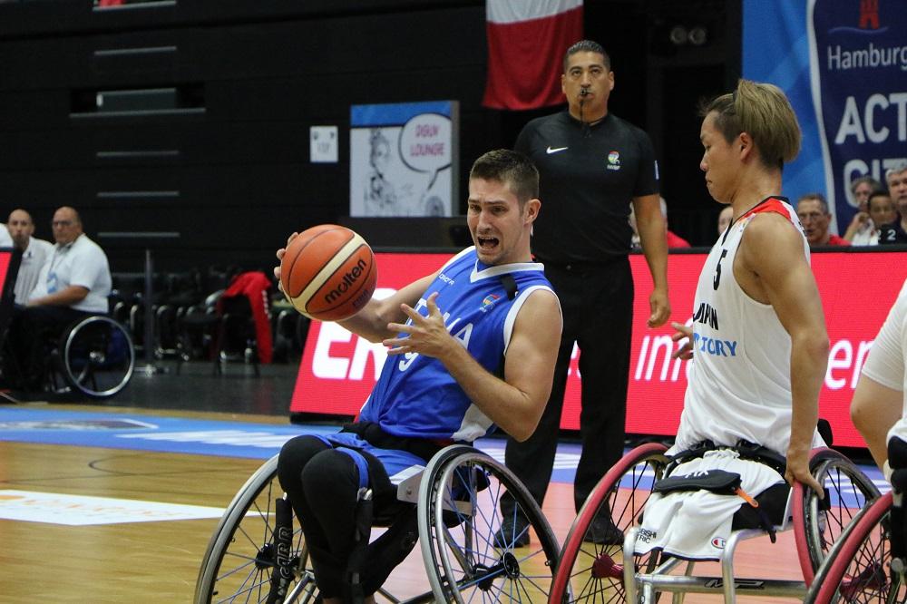 Italia - Giappone, Basket in carrozzina