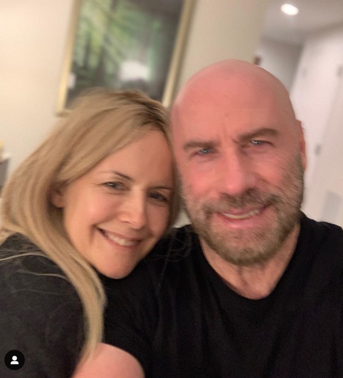 John Travolta e la moglie Kelly Preston in una foto su Instagram