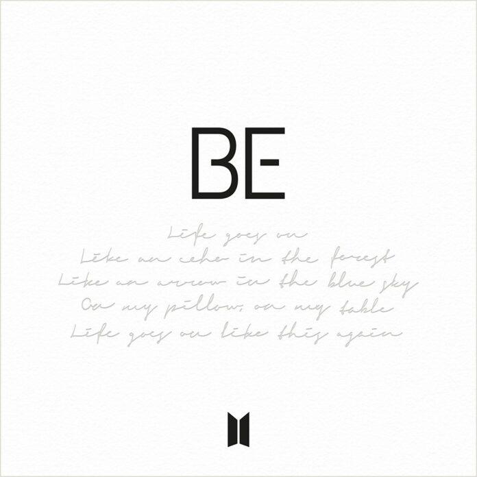 BTS copertina di BE