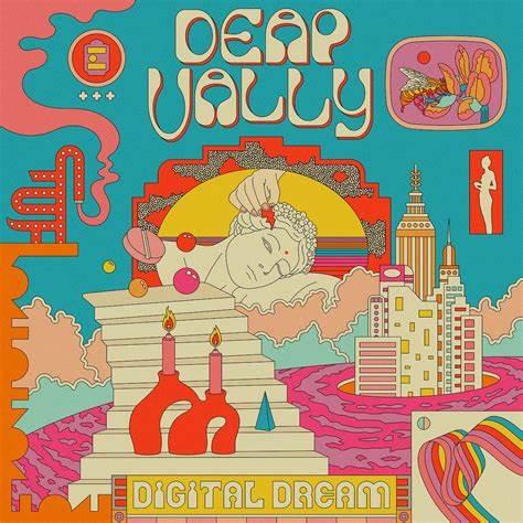 Copertina dell'ultimo albumd elle Deap Vally, Digital Dreams
