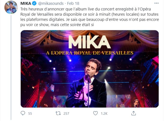 mika-royal opera di versailles