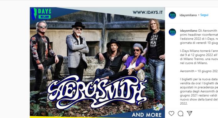 Aerosmith headliner agli I-Days 2022