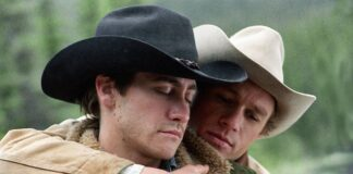 Heath Ledger e Jake Gyllenhaal in una scena di Brokeback Mountain