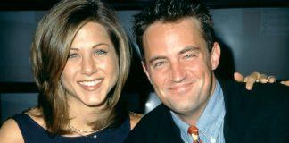 Matthew Perry e Jennifer Aniston all'epoca di Friends